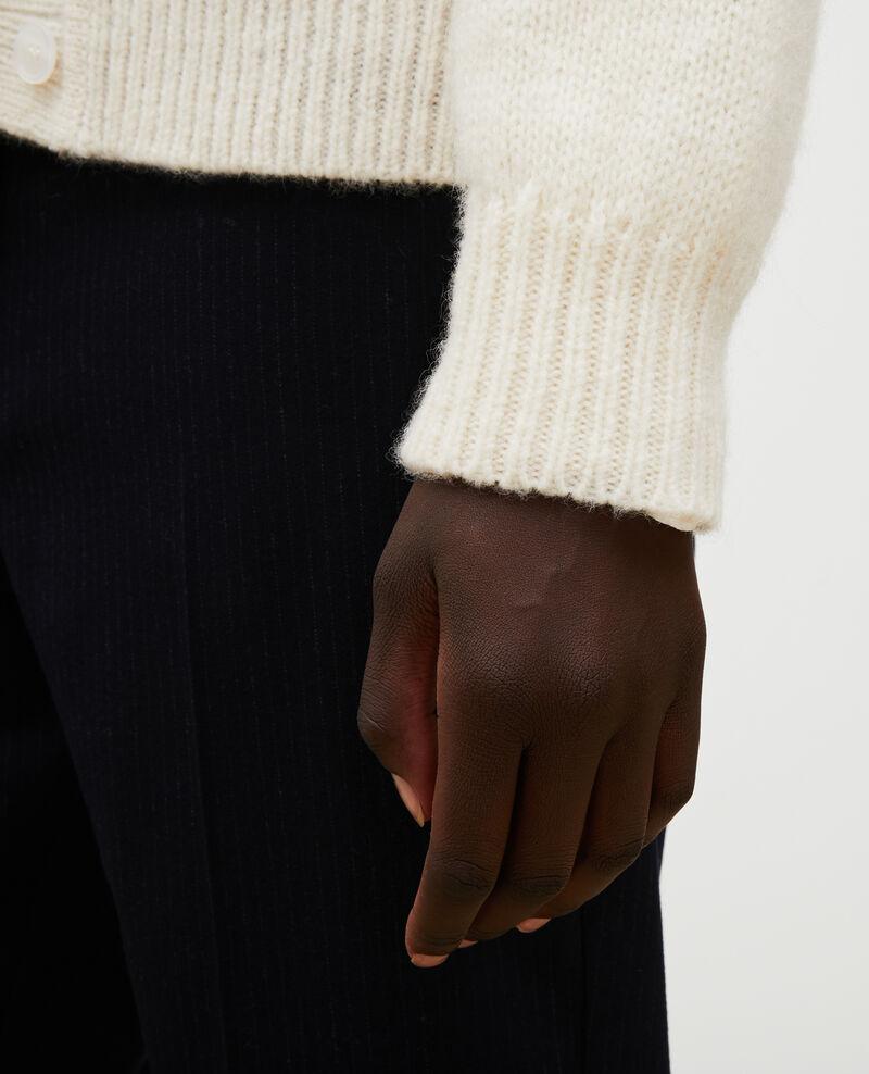 Oversize Cardigan mit V-Ausschnitt aus Wolle Jet stream Montfuji