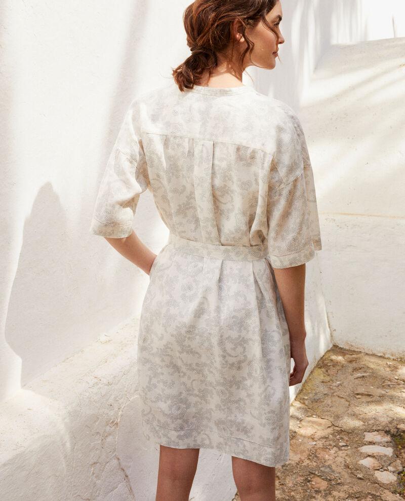 Gemustertes Kleid aus Leinen Bandana blue mirage Ifete