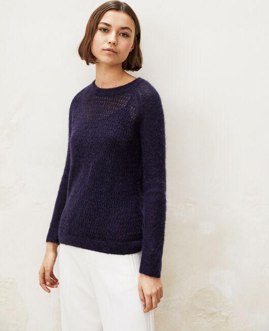 Pullover aus Zierstrick  INK NAVY