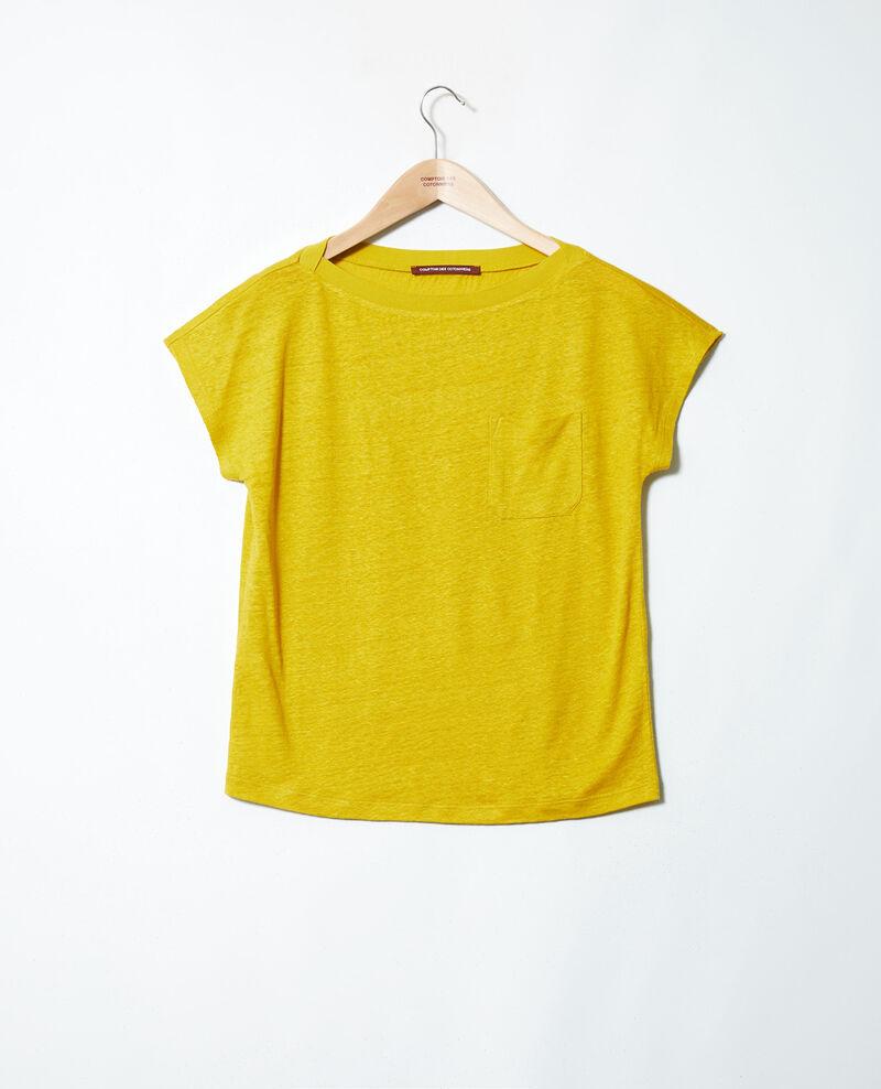 T-Shirt mit U-Boot-Ausschnitt Antique moss Jinolita