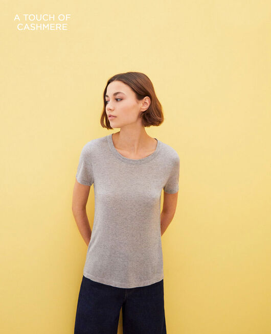 Zeitloses T-Shirt HEATHER GREY