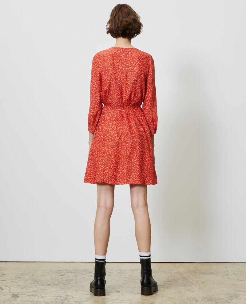 Wickelkleid aus Seide Clochette spicy Nireclos