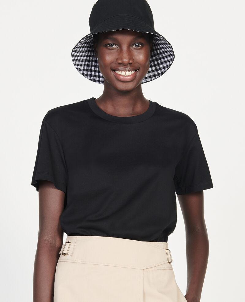 Klassisches T-Shirt aus Baumwolle Black beauty Lirous