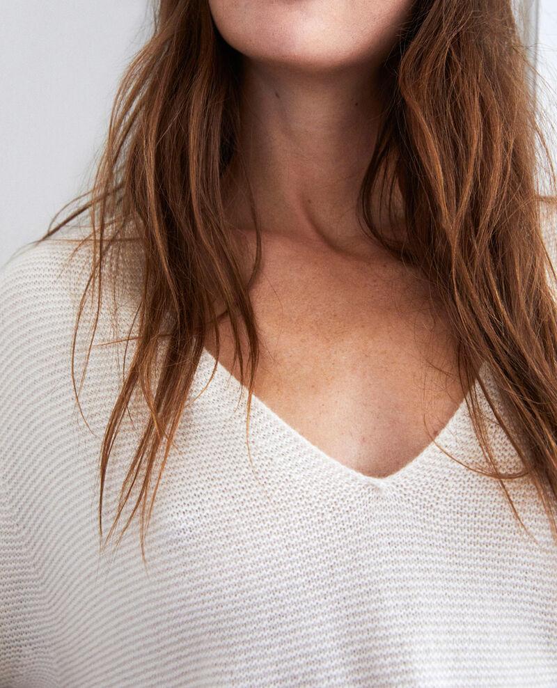 Pullover mit V-Ausschnitt aus 100 % Kaschmir Buttercream Jonka