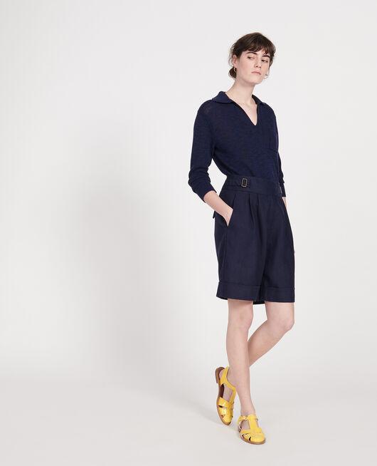Shorts aus Leinen  MARITIME BLUE