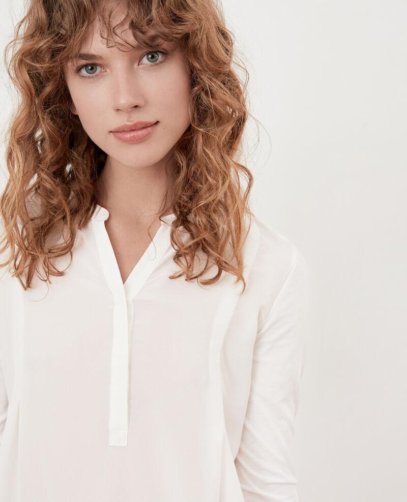 T-Shirt aus Bimaterial Off white Farly