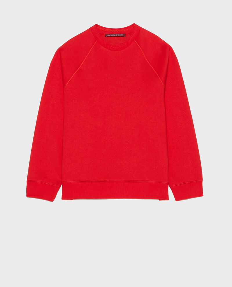 Sweatshirt aus Molton Fiery red Lison