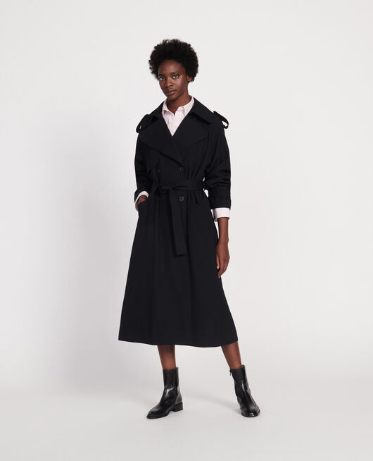 Trenchcoat aus Wolle BLACK BEAUTY