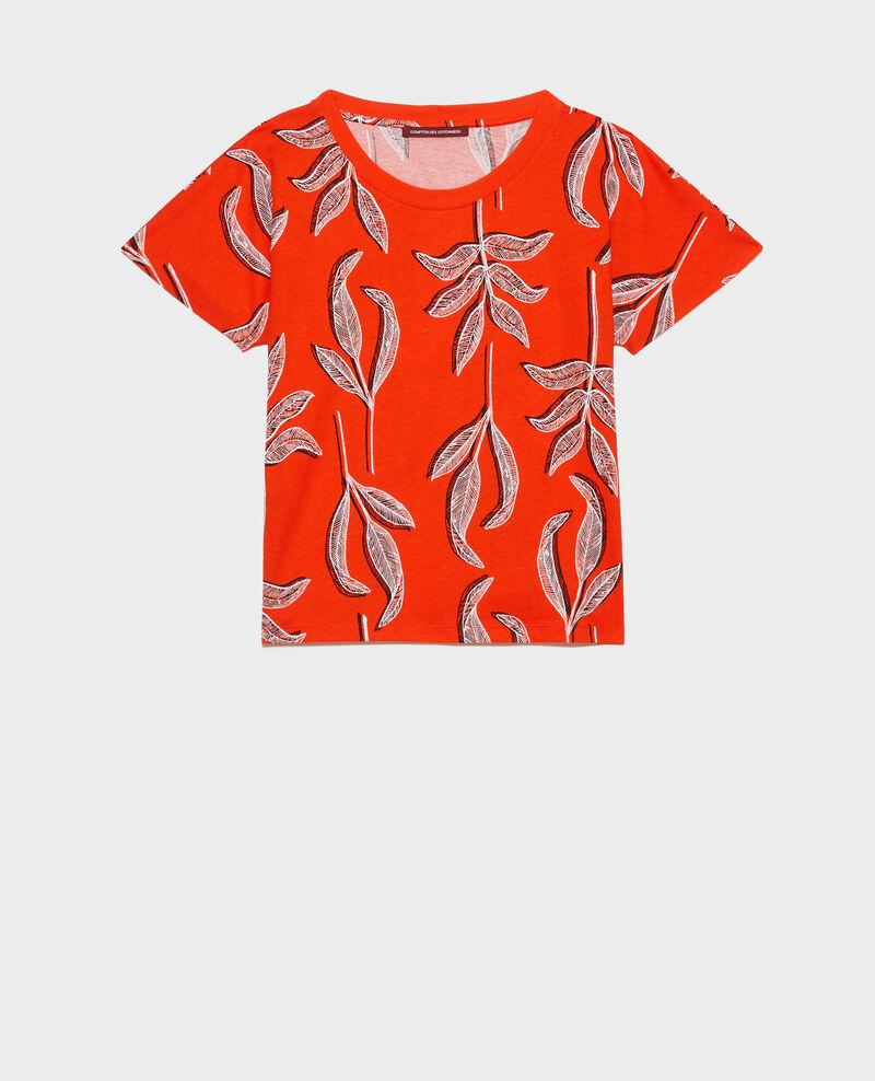 T-Shirt mit Rundhalsausschnitt aus Baumwolle Prt bot spicy Nimeric