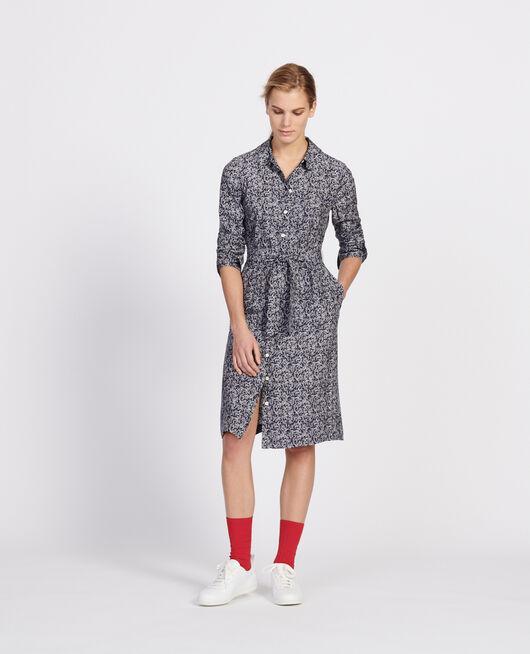 Kleid FEUILLAGE MARITIME CREAM