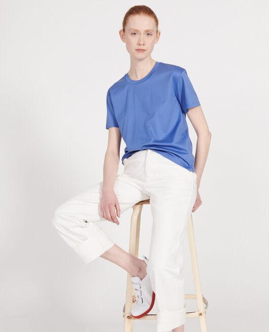 Klassisches T-Shirt aus ägyptischer Baumwolle AMPARO BLUE