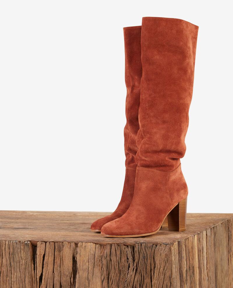 Stiefel aus Veloursleder Rust Dotte