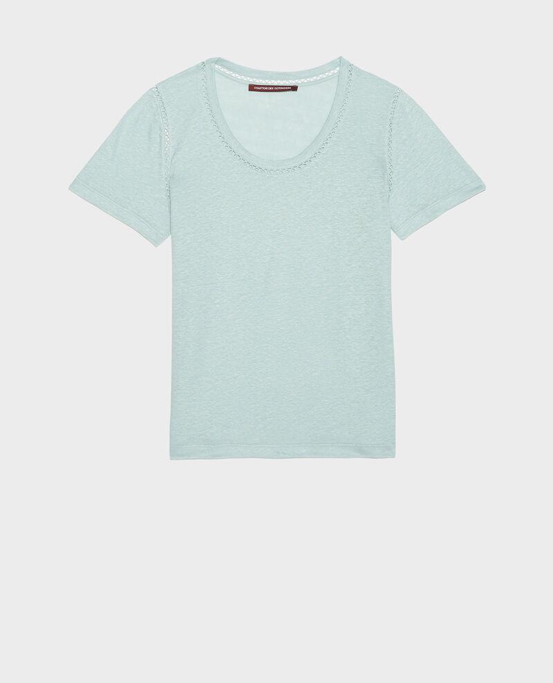 T-Shirt aus Jersey-Leinen Blue haze Lye
