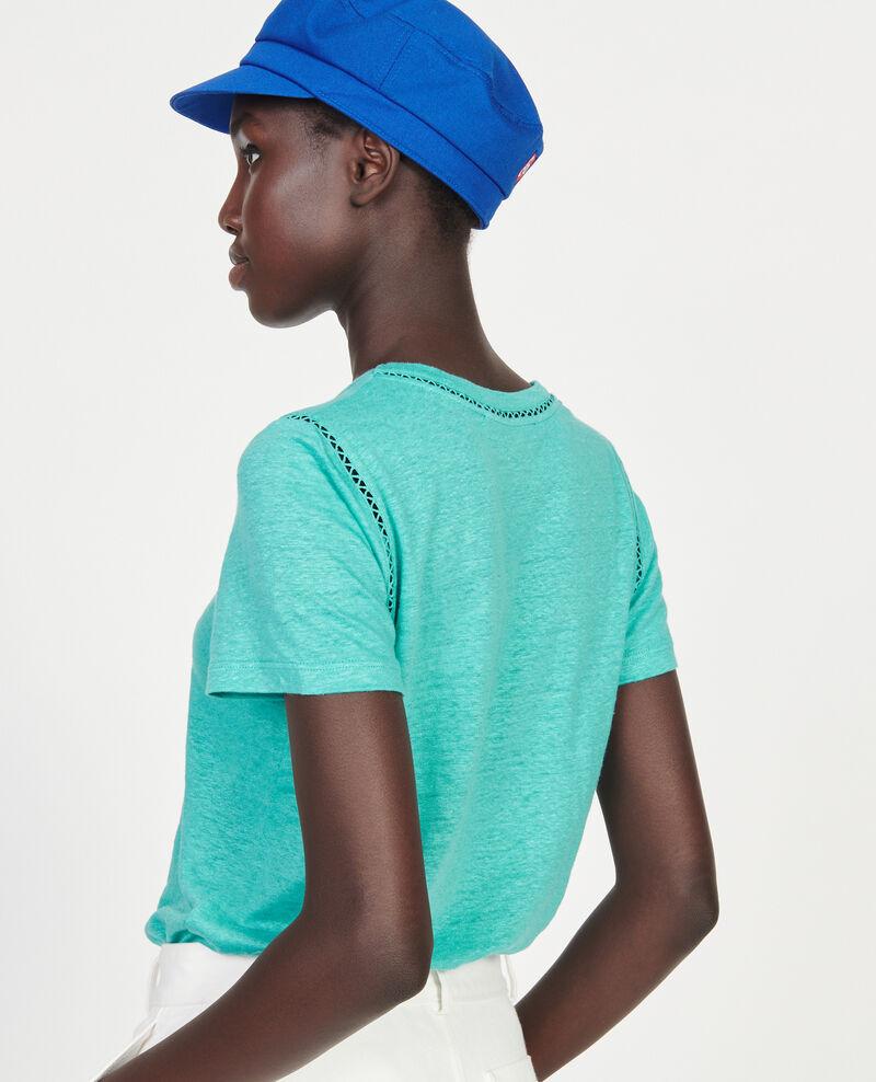 T-Shirt aus Jersey-Leinen Bright aqua Lye