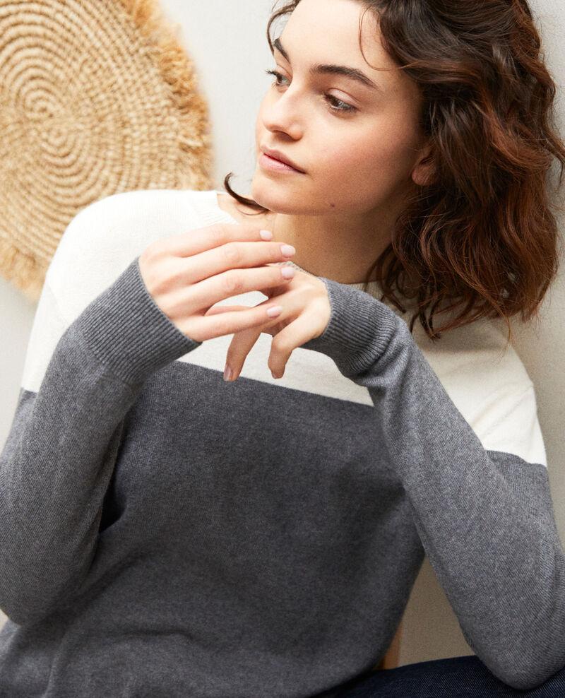 Zweifarbiger Pullover Medium heather grey Ilene