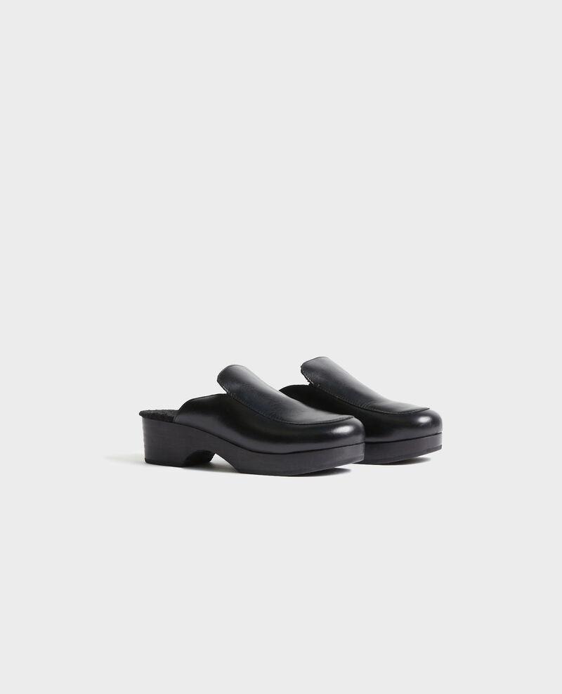 Clogs aus Leder Black beauty Perri