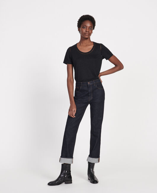 T-Shirt aus Leinen BLACK BEAUTY