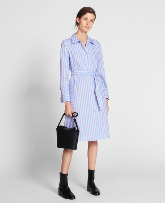 Hemdkleid aus Popelin POPELINE STRIPES