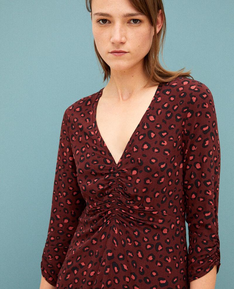 Kleid mit V-Ausschnitt Braun 9bandali