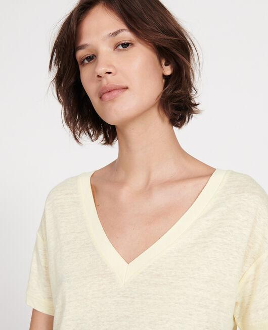 T-Shirts aus Jersey-Leinen TENDER YELLOW