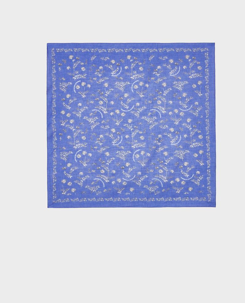 Bandana aus gemusterter Baumwolle Royal blue Noronille