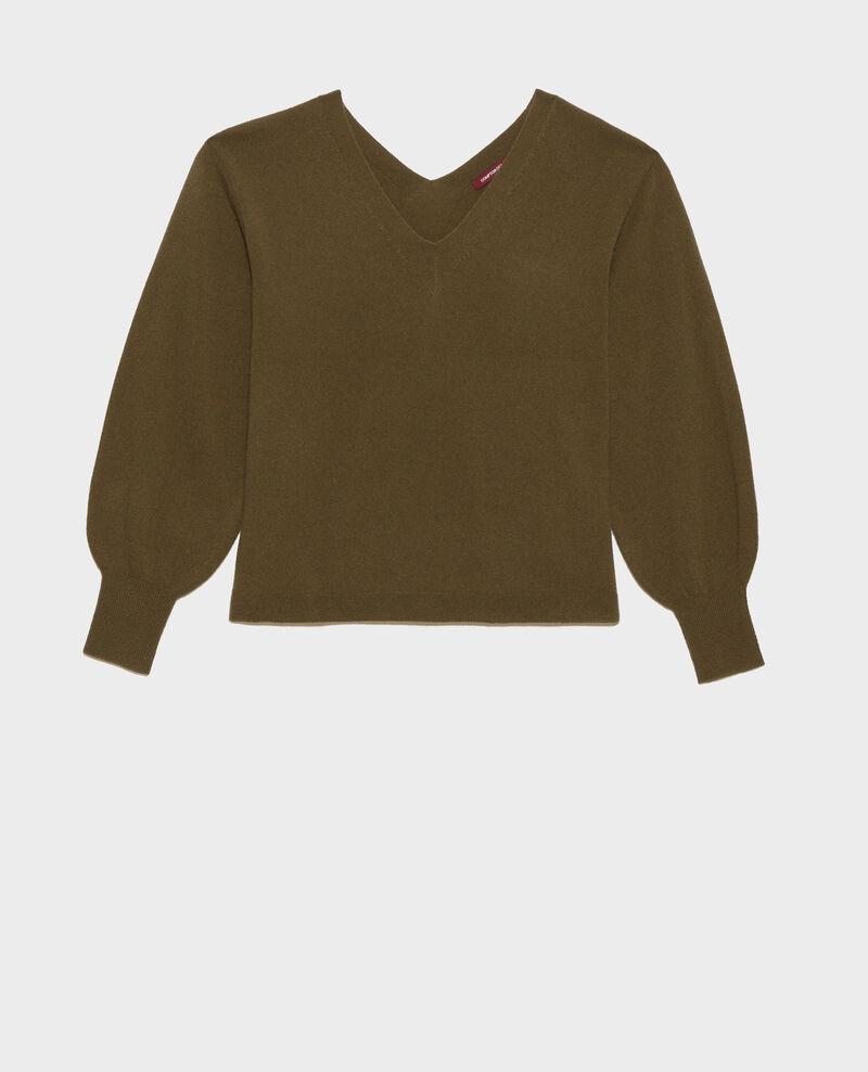 3-D-Kaschmir-Pullover Dark olive Paulmy