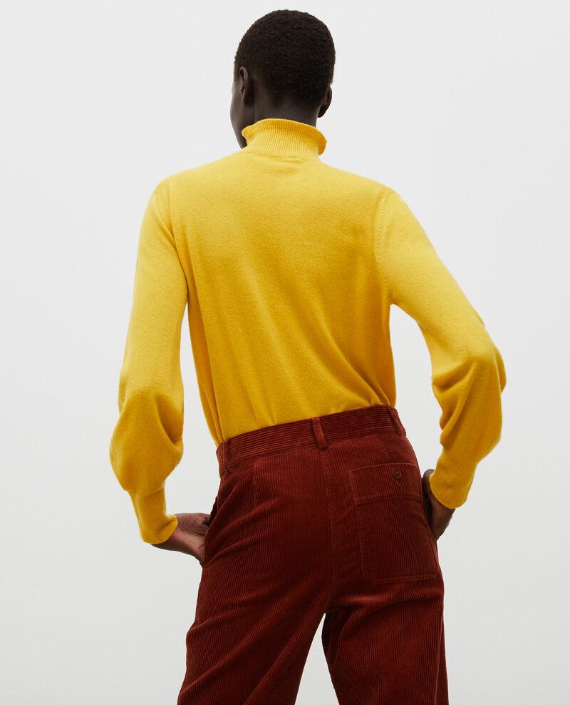 Feiner Pullover aus 3D-Kaschmir mit Stehkragen Lemon curry Mane