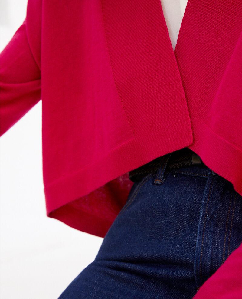 Cardigan court en coton 3D Fushia Ijape
