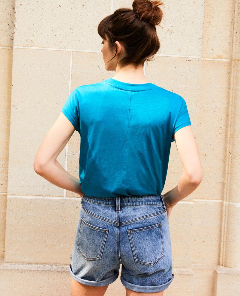 T-Shirt mit V-Ausschnitt Ocean depth Ifallena