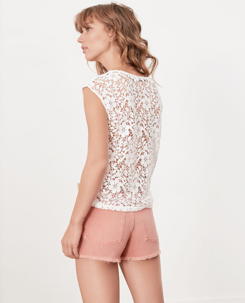 Fransen-Shorts Faded rose Fintashort