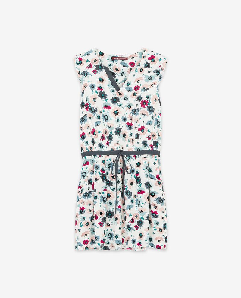 Gemustertes Kleid Poppies off white Deso
