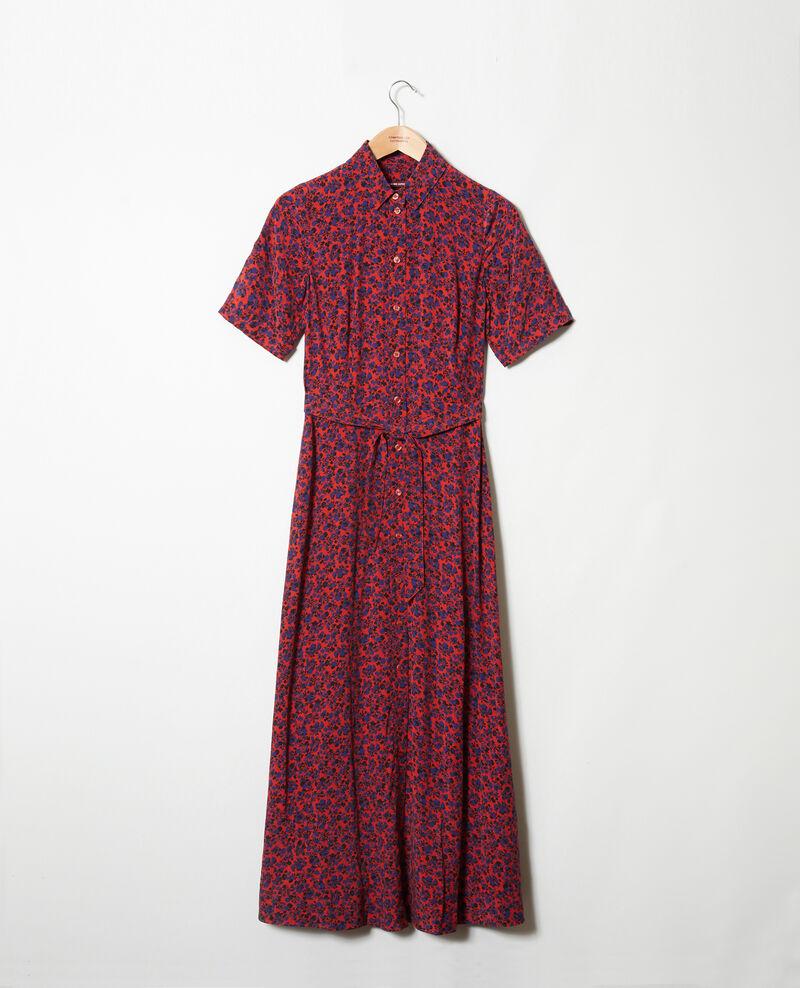 Langes gemustertes Kleid Nf molten lava Josges