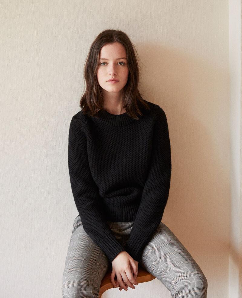 Pullover aus Wolle Noir Ginseng