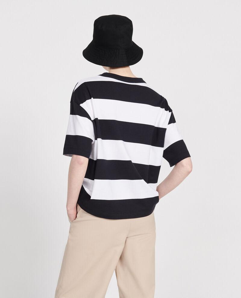 Gestreiftes Oversize T-Shirt Str opticalwhite black Lord