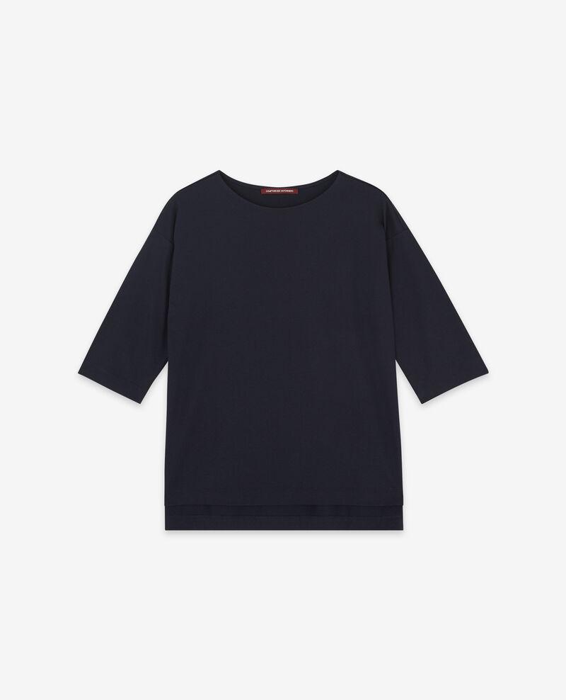 T-Shirt mit halblangen Ärmeln Navy Dimac