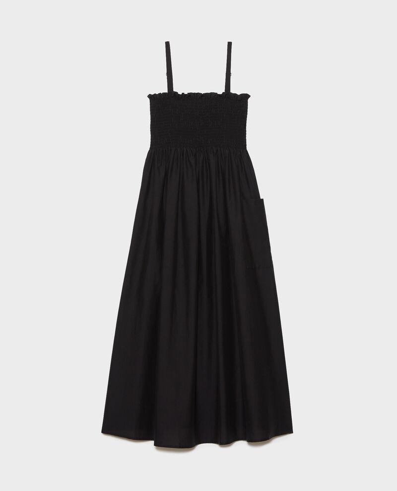 Langes Kleid aus Baumwolle und Seide Black beauty Nassandrou