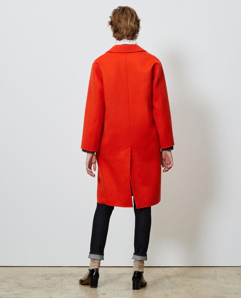 Mantel aus Wolle Spicy orange Maclas