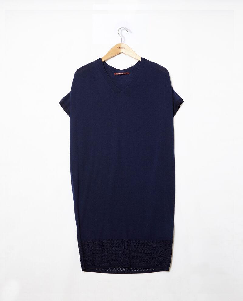 Kleid aus nahtlosem Strick Medieval blue Gedith