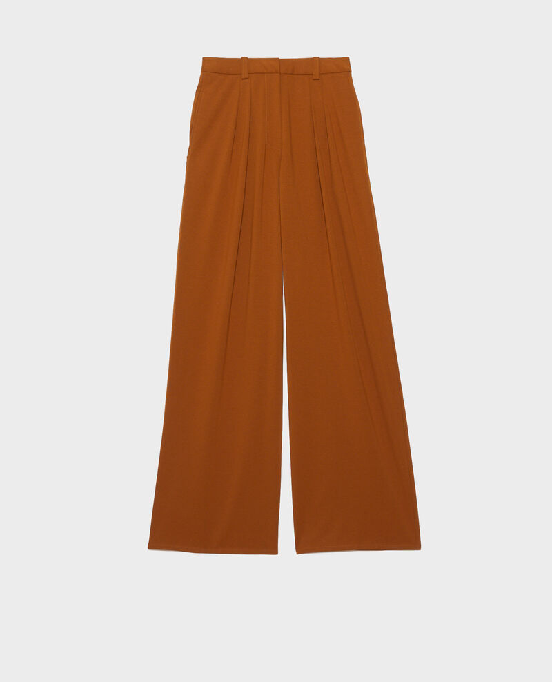 YVONNE – Hose mit weitem Bein mit Bundfalten Monks robe Pradus