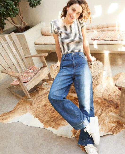Wide Full Lenght-Jeans Blau
