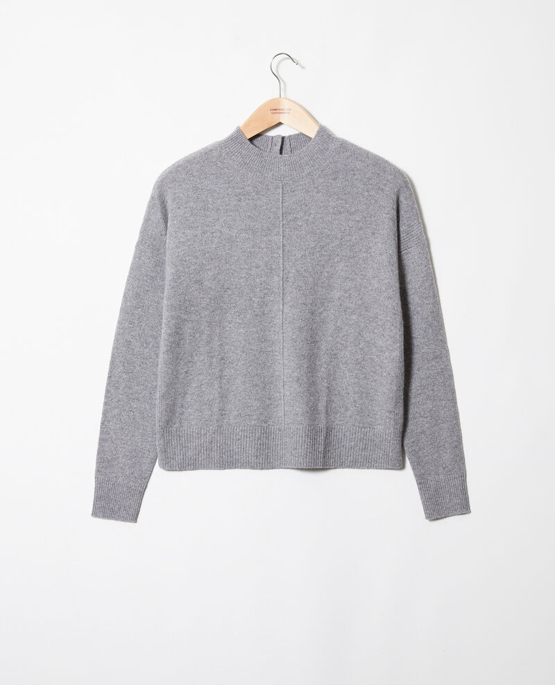 Pullover mit Knöpfen im Rücken 100 % Kaschmir Light grey Jook