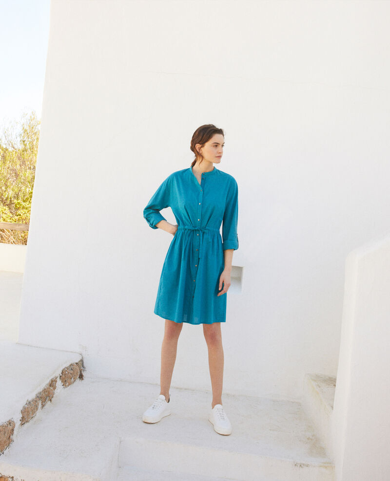 Kleid mit Rundhalsausschnitt aus Baumwolle Ocean depth Ioda