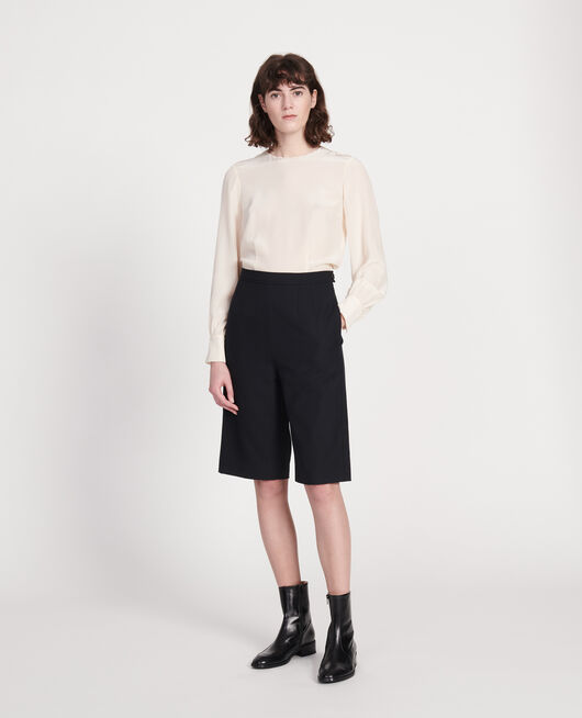Bermudashorts aus glatter Wolle BLACK BEAUTY