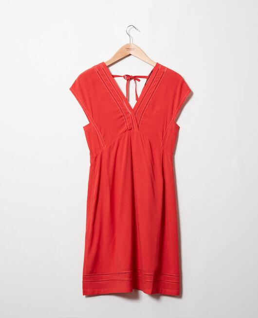 Kleid mit Spitzeneinsatz MOLTEN LAVA