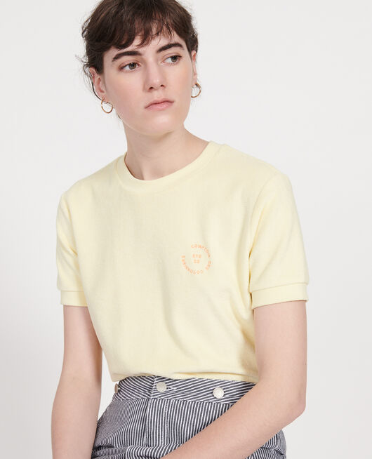 Frottee-T-Shirt aus 100 % Baumwolle TENDER YELLOW