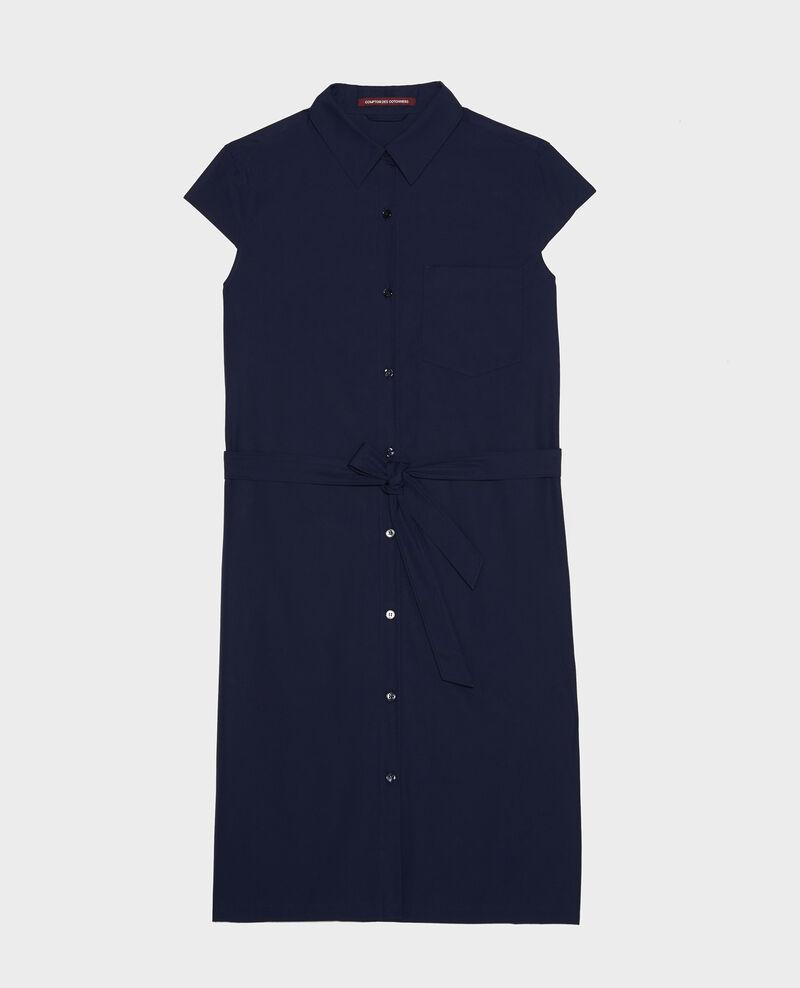 Hemdkleid aus Baumwolle Maritime blue Lelumba