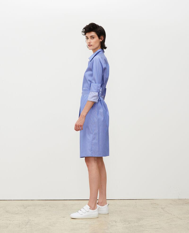 Hemdkleid aus Baumwolle mit Gürtel Blue as proto Mezeres
