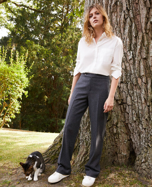 tailoring-Hose mit Wolle HEATHER GREY