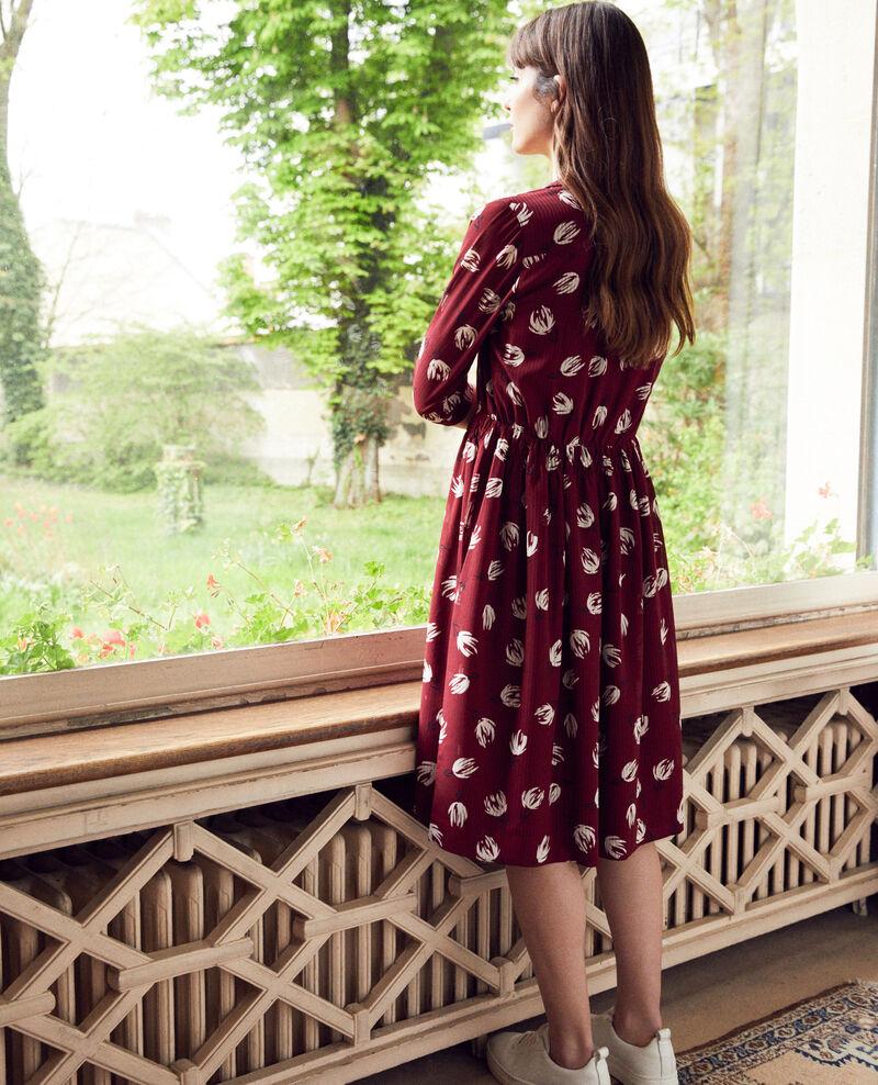 Gemustertes Hemdkleid Tulip cabernet Jaradja