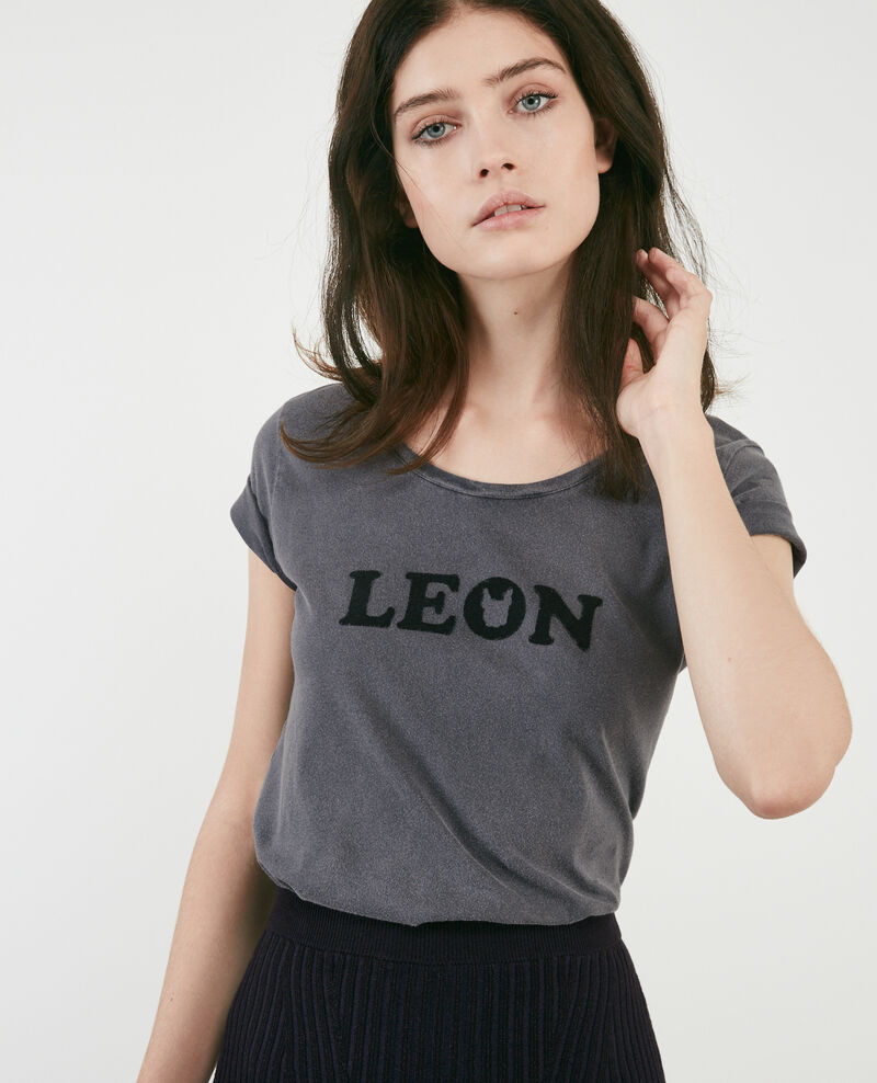 T-shirt mit Léon print Light heather grey Daloupe